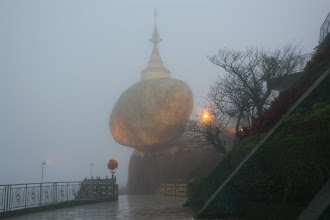 Photo: Year 2 Day 59 - Golden Rock in the Mist