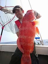 """Photo: 超高級魚!スジアラ! 9kgでしたー! やったね、""""オカダさん""""!"""