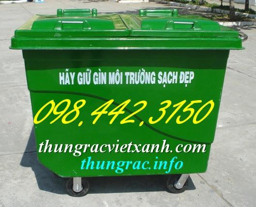 Xe gom rác 660 lít