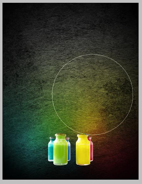 Luzes coloridas sobre a textura