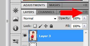 Clique para abrir o menu da paleta de camadas; então, segure Alt e selecione Merge Visible