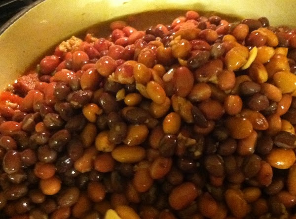 Add your beans that have been drained and rinsed.