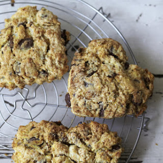 Cherry and Chocolate Heart-Shaped Scones.
