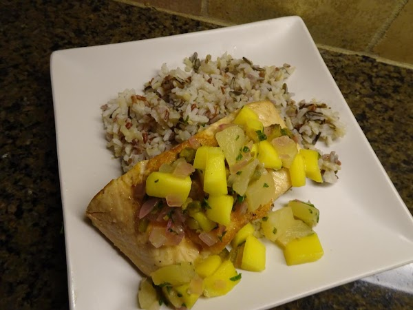 I serve this dish with a mixed rice blend.  To plate, scoop a...