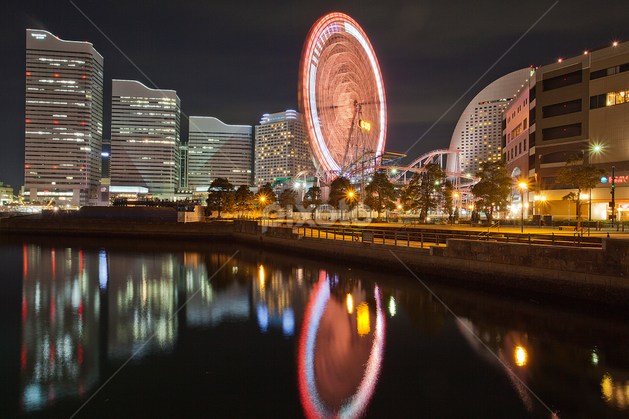 Yokohama Evening. by Ketut Pujantara - City,  Street & Park  Amusement Parks