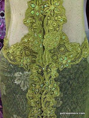 Kebaya Lace Green - Kebaya Modern | Kebaya Muslim | Model Kebaya