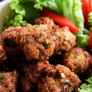 Crispy Thai Laab Meatballs