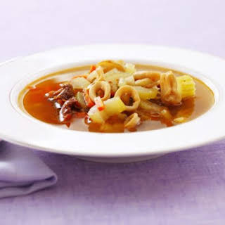 Squid and Vegetable Soup.
