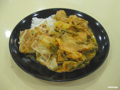 Yuhui's Blogger: My memories: fried chicken and curry vegetables with rice