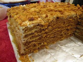 Торт медовик на водяной бане