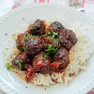 Spicy Cherry CrockPot Meatballs Recipe
