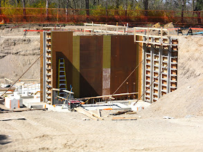 Photo: Elevator Wall Forming, April 5, 2012