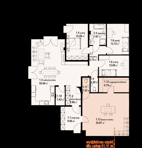 Arkowo biuro w domu - Rzut parteru