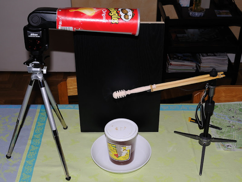 Goutte de miel avec boite Pringles Making-of-2
