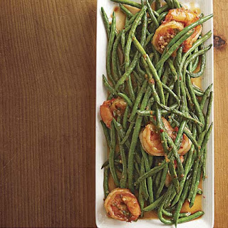 Spicy Shrimp with Ginger-Garlic Long Beans
