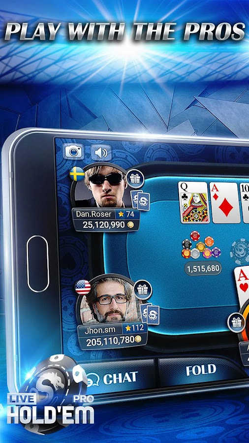 Screenshots of Live Hold'em Pro Poker Games for iPhone