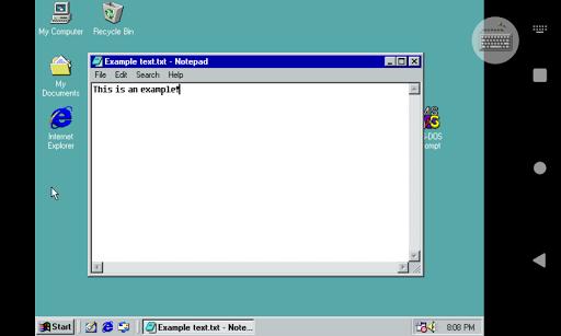 Win 98 Simulator 1.4.1 screenshots 6