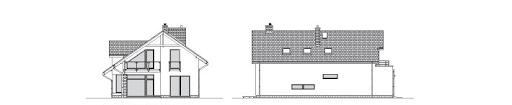 Z Charakterem 3 - Elewacja tylna i boczna