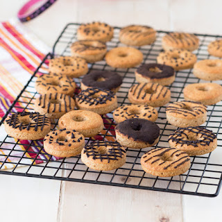 Peanut Butter Dog Treats with Carob Icing.