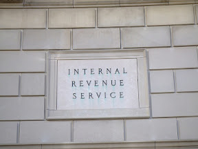 Internal Revenue Service building placard