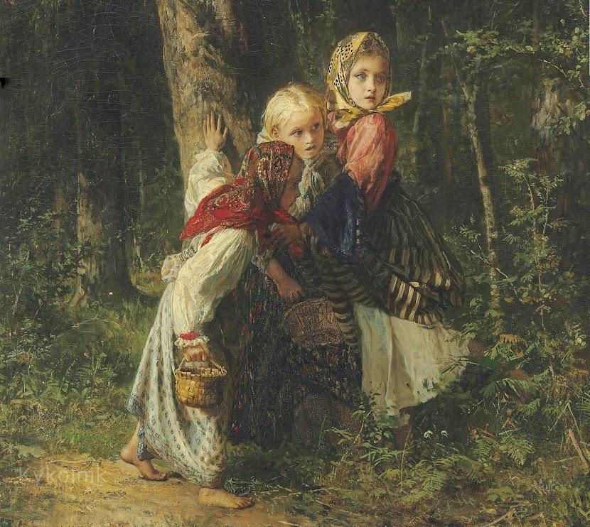 Порно картинки девочка в лесу 3 фотография