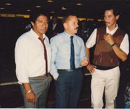 Photo: Guud Hahijari, Freddy Corporaal en Bob Pelupessy