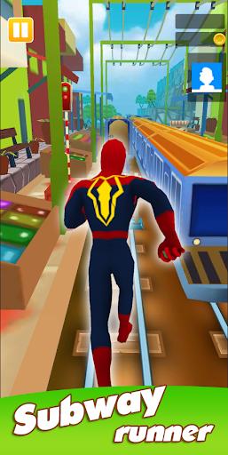 Super Heroes Run: Subway Runner 1.0.4 screenshots 1