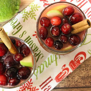 Cranberry Apple Mulled Wine.
