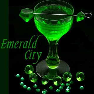 Emerald City - Green Melon Margarita.