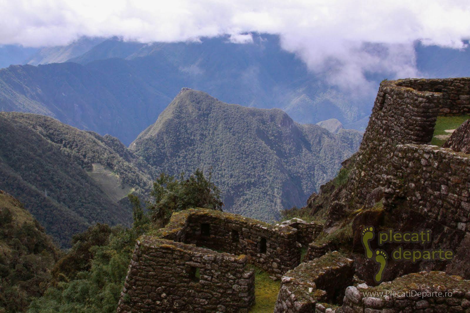 Cetatea Puyupatamarca la 3600m, in a 3-a zi pe traseul Inca Trail (Drumul Incas) spre Machu Picchu, in Peru