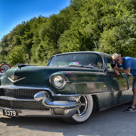 Caddy by Marco Bertamé - Transportation Automobiles ( number, oldtimer, green, car, vintage, number plate, american, photographer, cadillac, us )