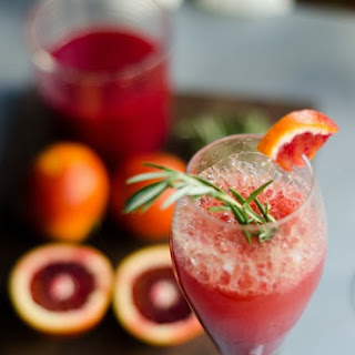 Blood Orange Mimosas with Rosemary and Vanilla Recipe