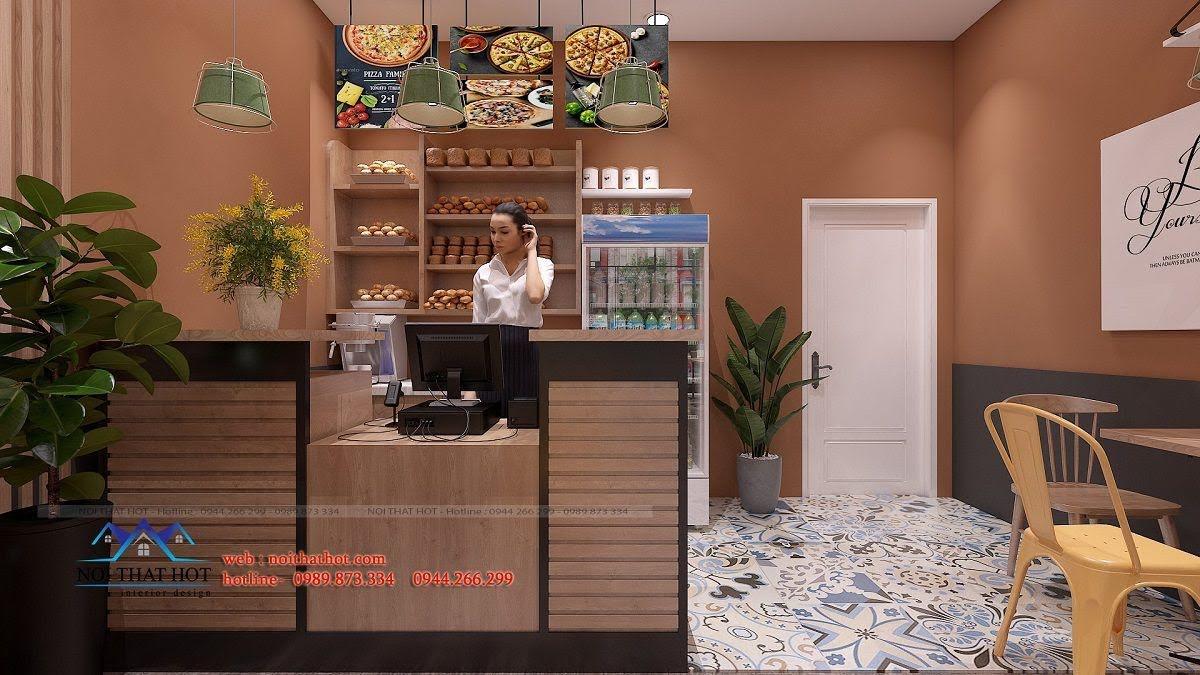thiết kế cửa hàng pizza bau's 12
