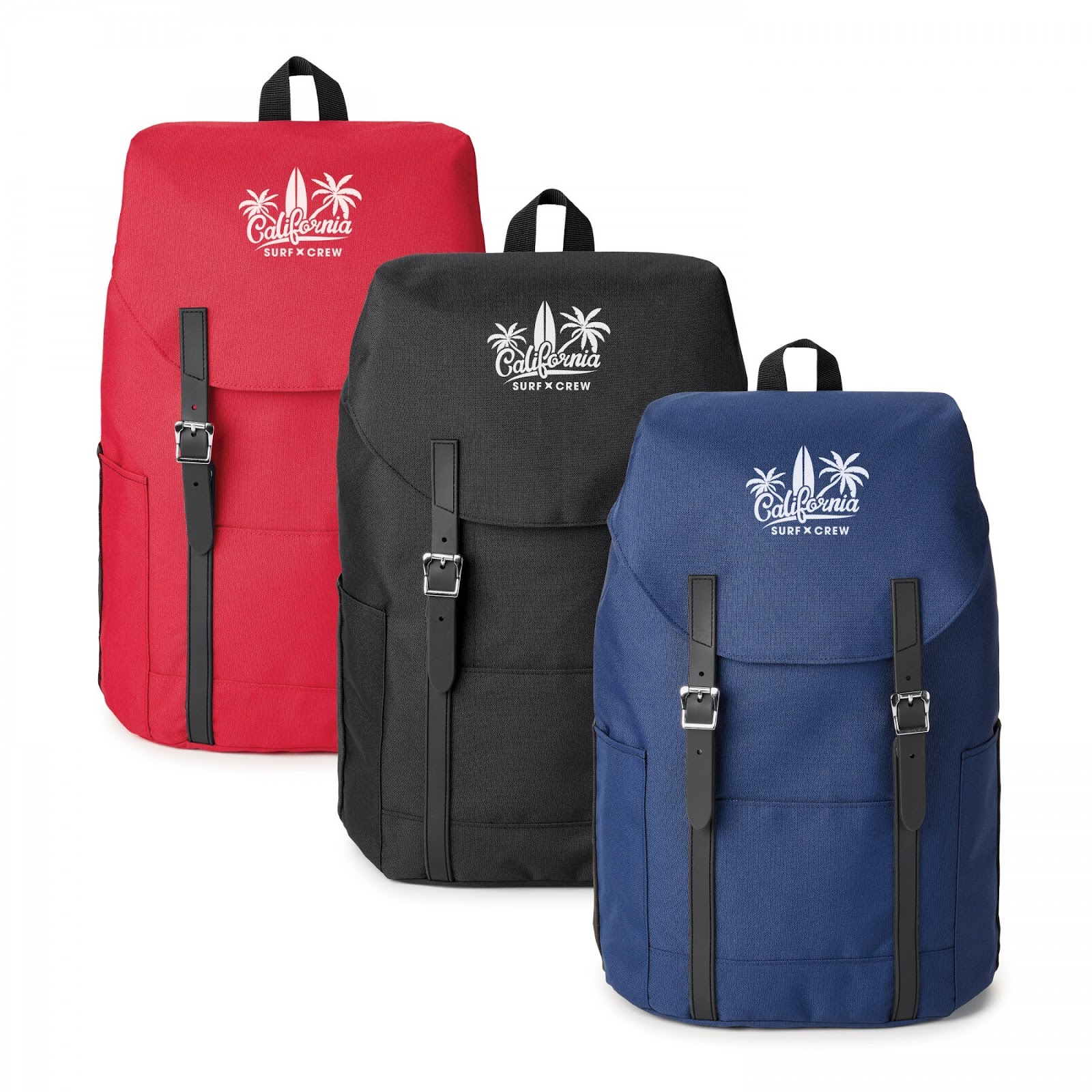 flip-top logo backpack