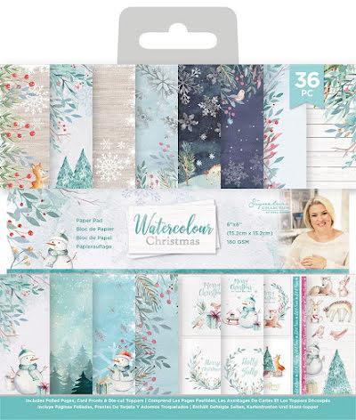 Sara Davies 6x6 Paper Pad - Watercolour Christmas