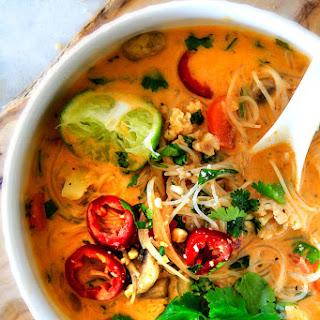 One Pot Thai Chicken Noodle Soup (Video!).
