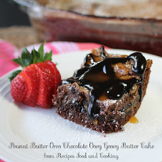 Peanut Butter Oreo Chocolate Ooey Gooey Butter Cake
