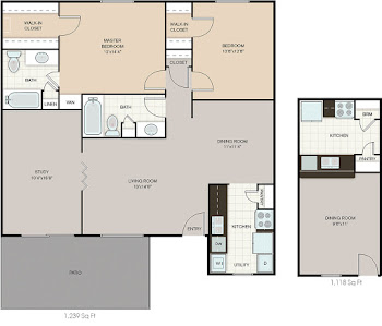 Go to Bridge Hampton (Washer/Dryer) Floorplan page.
