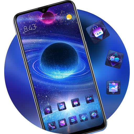 Colorful starry sky planet theme brigth star