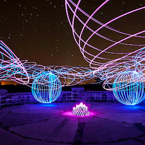 I Was Listening to Pink Floyd by Jamie Rabold - Abstract Light Painting ( lights, light painting, night photography, led, orb, stars, night shooting, light spinning )