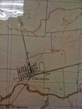 Photo: The 1900 Yolo County map (I think) showing Davisville only from 1st to 5th Streets and from A to L streets. Follow the railroad tracks north of town past the 10 up to the second crossing road (which is CR 31, now Covell) - go right on CR 31 and near the corner where it meets CR 102 at a right angle turning only north, is the dot that is this house or a barn.  You only see a few other farmhouses on this map that are still around (kind of) - the one on Covell near Birch, and one that burned in the cemetery (near the 11 on the map).