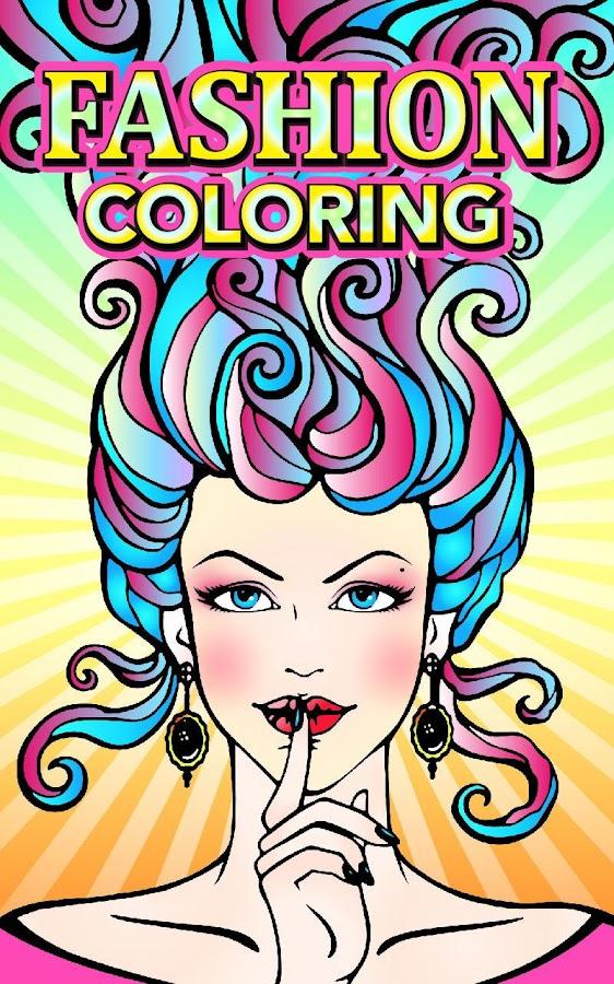 fashion adult coloring books screenshot - Fashion Coloring Book