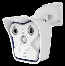 Photo: Mobotix M15 dual outside IP camera, wall mount