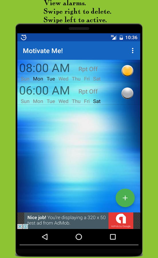 Motivational Alarm Clock-Free- screenshot