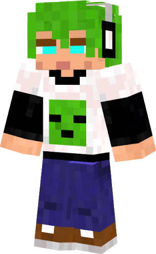 Green Hair Minecraft Skin Base