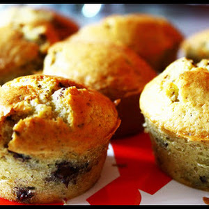 Pears and Chocolate Chip Muffins