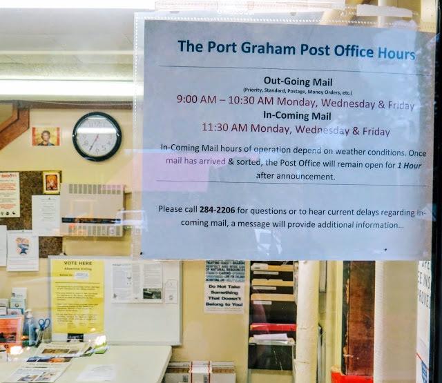 Port Graham, AK Community Post Office sign