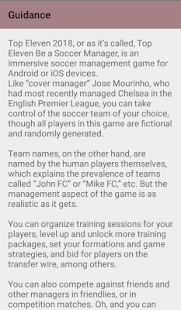 Top eleven tactics - náhled