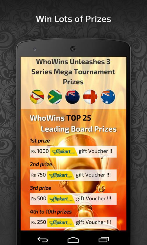 WhoWins Sports Entertainment- screenshot